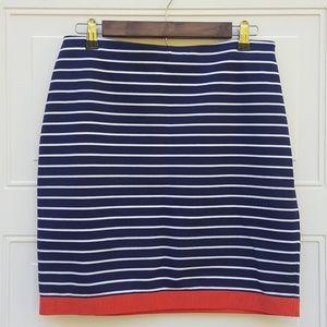 🎉Ann Taylor|Navy/White Skirt|Sz 6
